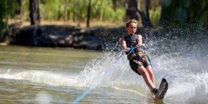 Skiing on the murray river corowa